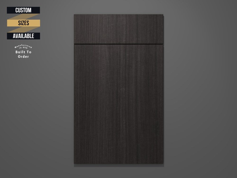 Chestnut Sample Door on Grey Background