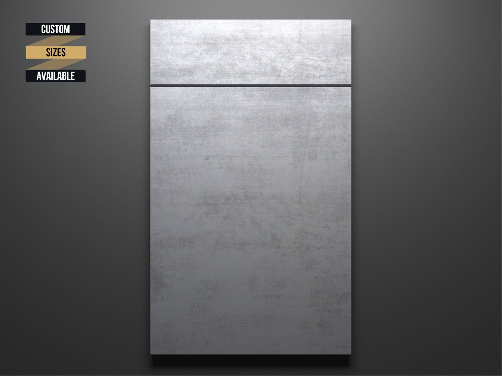 Concrete Sample Door on Grey Background