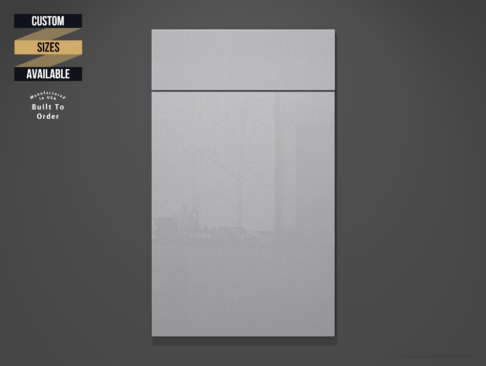 Gris Metallic Sample Door on Grey Background