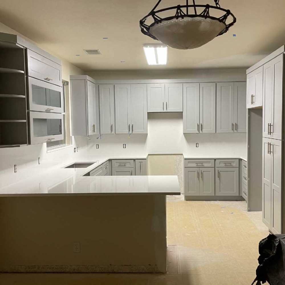 Grey Shaker U-Shaped Kitchen