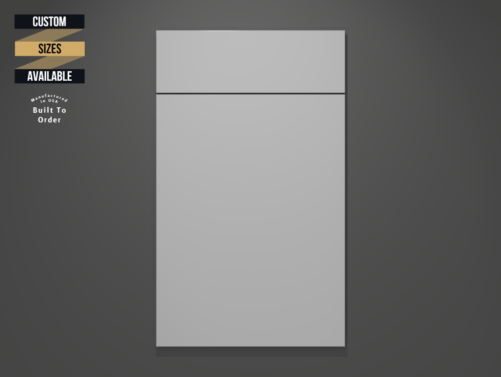 Matt Ash Sample Door on Grey Background