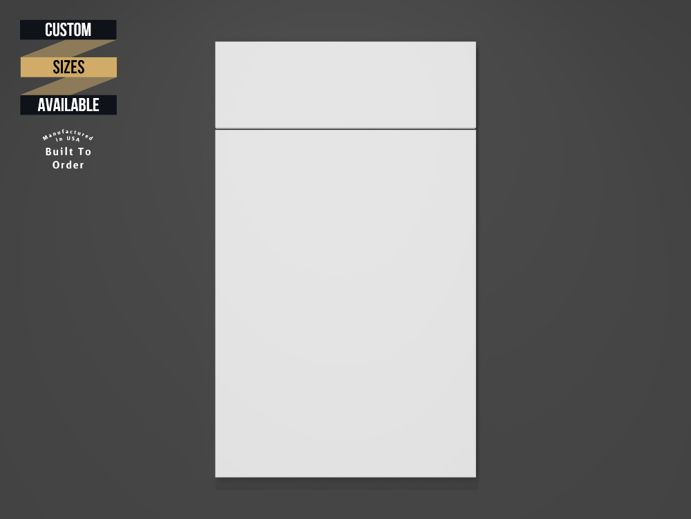 Matt White Sample Door on Grey Background