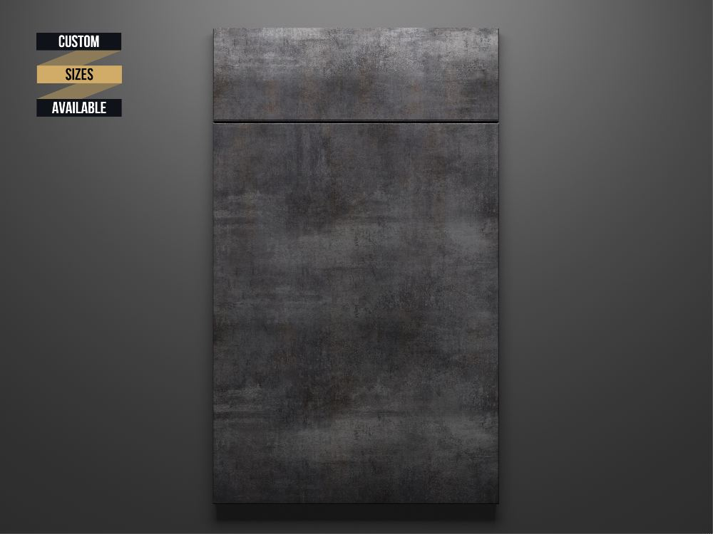 Rustic Grey Sample Door on Grey Background