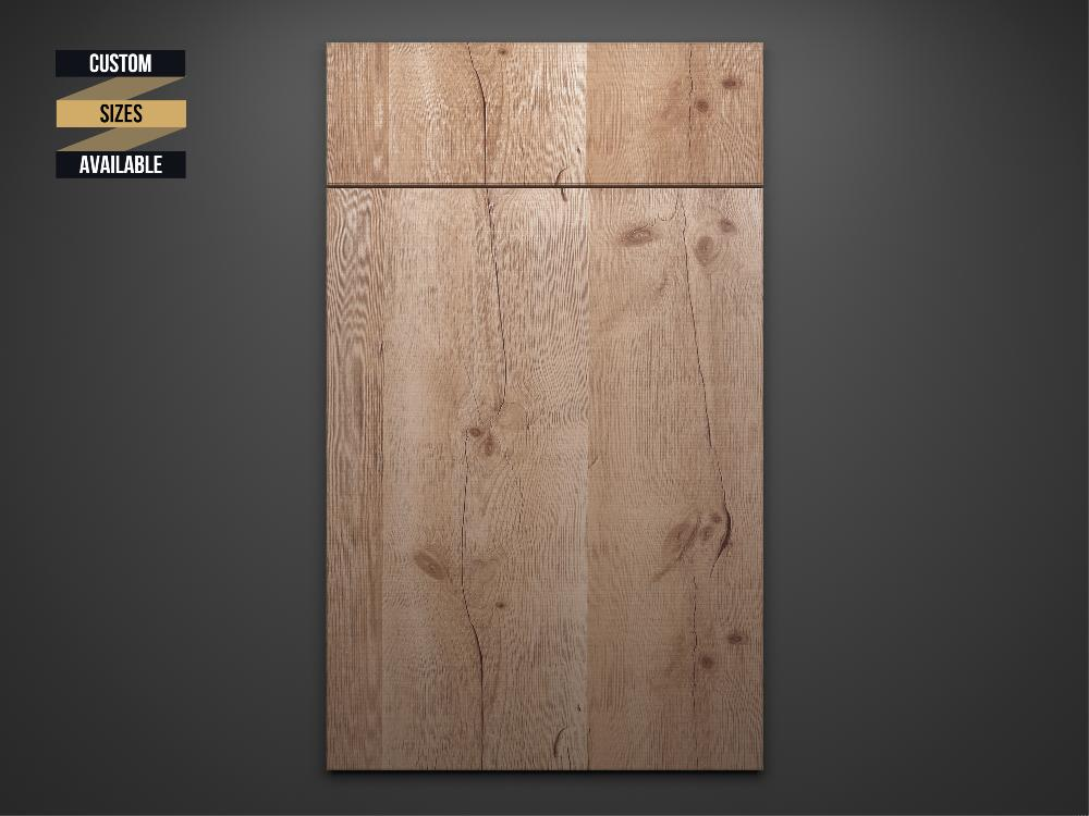 Rustic Oak Sample Door on Grey Background