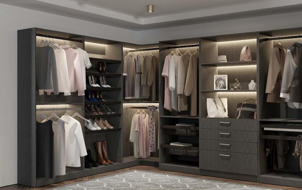 Satin Dusk Cabinet Closet in Set Room