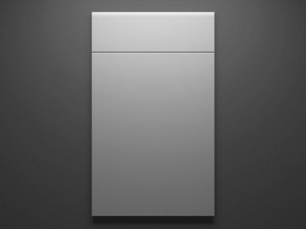 Glossy White Sample Door on Grey Background