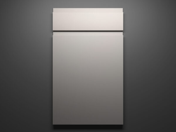 Lacquer Ash Sample Door on Grey Background