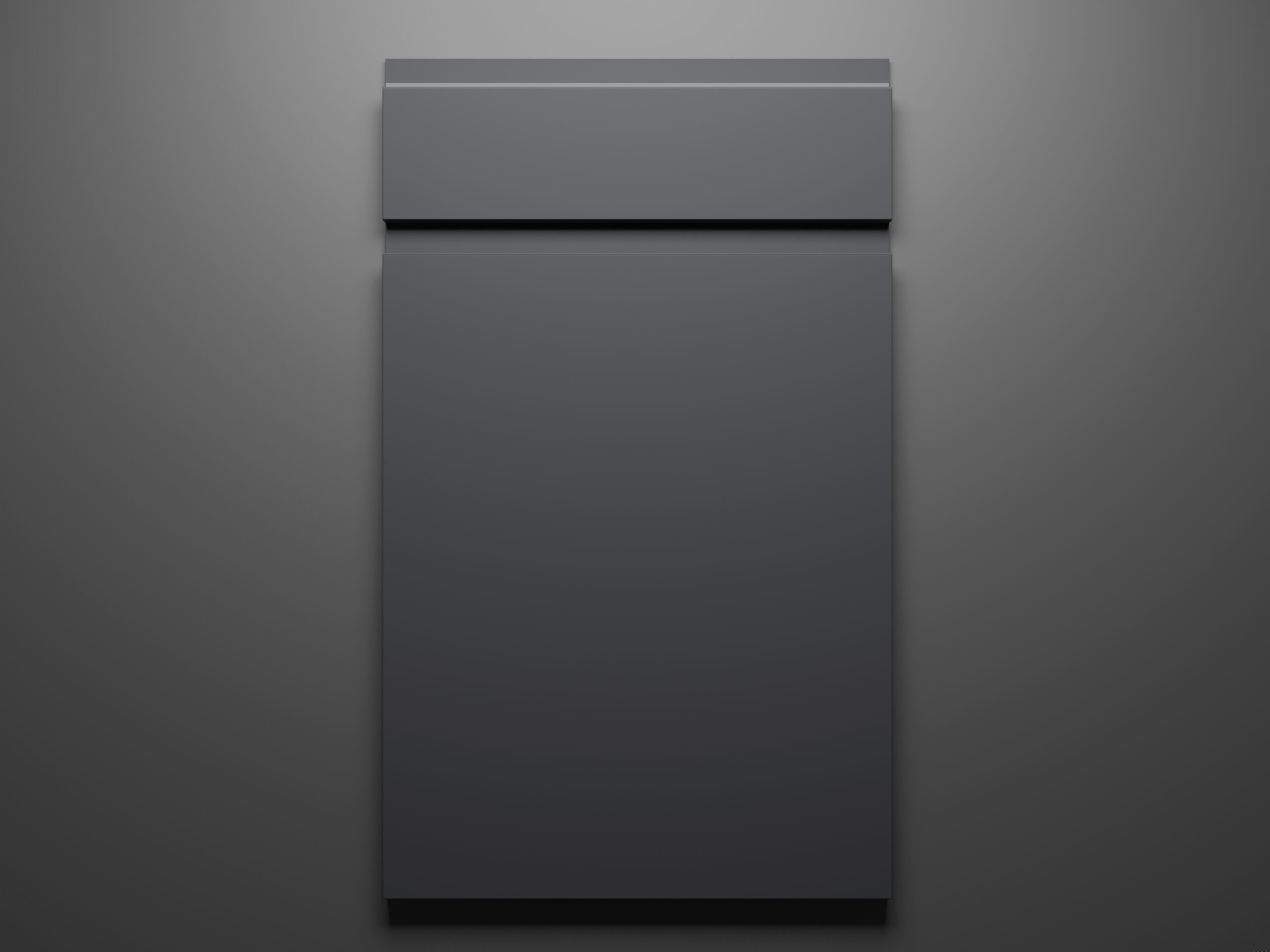 Lacquer Grey Sample Door on Grey Background