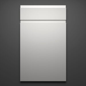 Lacquer White Sample Door on Grey Background